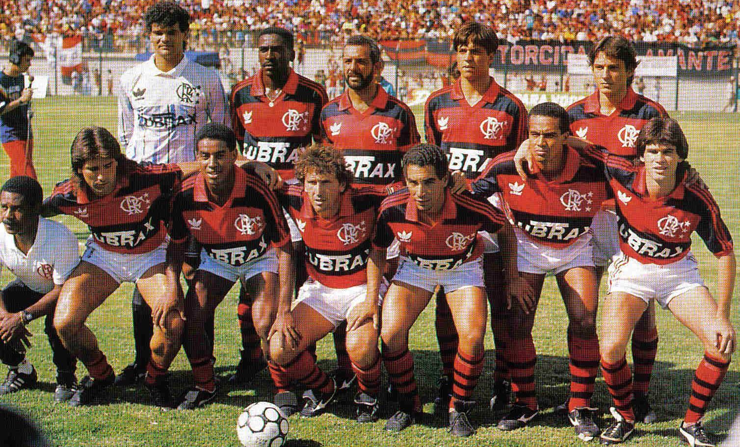 Série – 100 anos de Fla x Flu – Fluminense 0 x 5 Flamengo – 1989 –  Despedida de Zico c82a2354c9c40