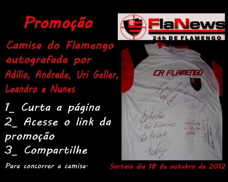 Sorteio de uma camisa do Flamengo autografada por  Adílio 3997b7e709960