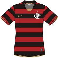 bed0c21867d33 Último modelo fabricado pela Nike que o Flamengo vestiu no segundo semestre  de 2008 até o fim do contrato em julho de 2009. Com essa camisa o Flamengo  ...