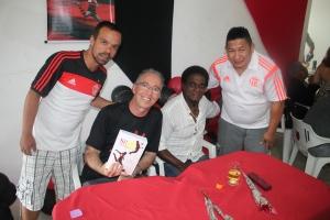Blog Ser Flamengo prestigiando o lançamento do livro